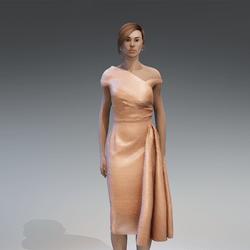 AV 2.0    Vintage elegant dress - peach