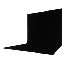 Backdrop Black 1x1 Pitch Black