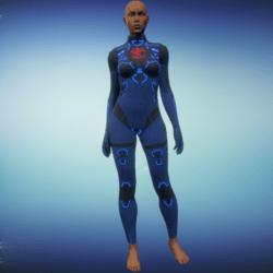 BioArmor ZV01 Body Female Blue