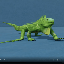 Animated Iguana