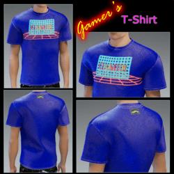 Male - Gamer's T-Shirt Cool-Blue