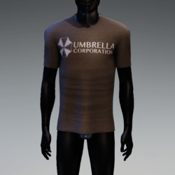 Umbrella Corporation T-Shirt Brown Heather