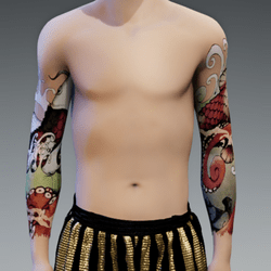 Japanese Tattoo Arms male