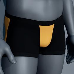 Men Boxer Underwear - Black and Yellow
