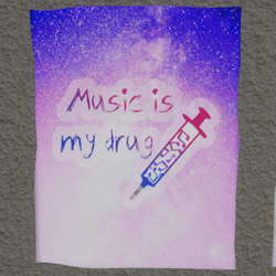 music is my drug wall poster