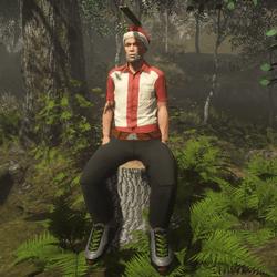 FREE Sitting Male on Stump (attachment)