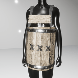 Wooden barrel armor (female)
