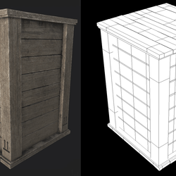 Wooden Crate 03