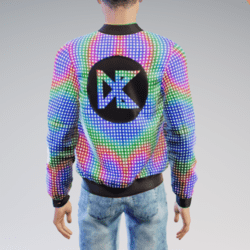 (ANIMATED NEON) Daisybel Merchandise 140BPM Jacket for Males
