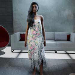 Polynesian Wrap Dress #4