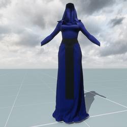 Blue High Priestess Costume