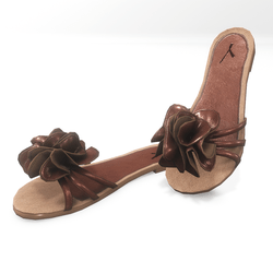 Flower sandals for alina - brown