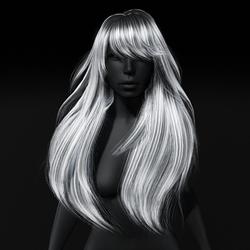 Amber Hair - Long Wind Swept