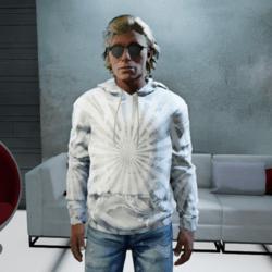 Men White Sweatshirt Hoodie