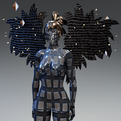 Metal Woman with Wings