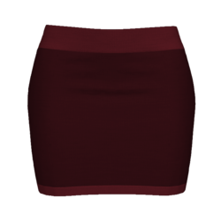 Woman Simple Skirt - Dark Red