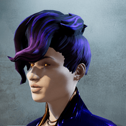 Fashion Hair Style - Violet Punk Fusion - Lite version