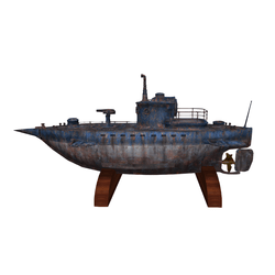 Tabletop Rusty Submarine
