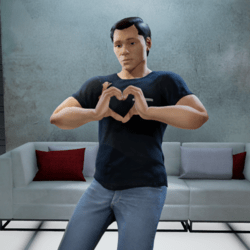 Heart Hands Gesture (Male)