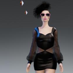 Sexy Black Leather Dress