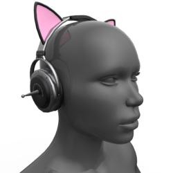 Headphones Black-Pink (Head)