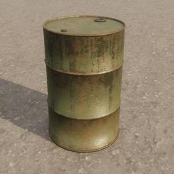 Oil Drum Metal Barrel (Green)