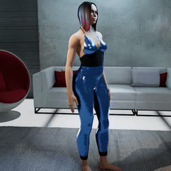 Jumpsuit metallic blue