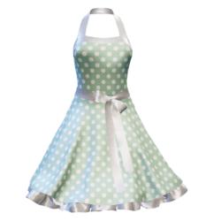 Fifties Rockabilly Polka Dot Dress green2