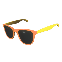 Sunglasses Orange Yellow - Female