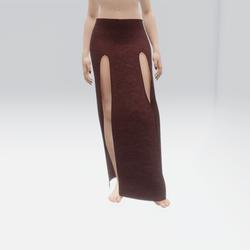 Simple Split Skirt Burgundy (TM)