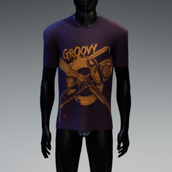 Groovy Horror T-Shirt Purple