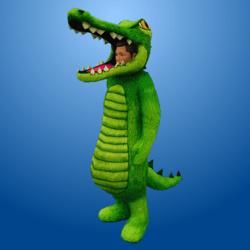 Croc Costume MedGreen (Male)