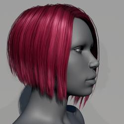 Hair - Asymmetrical Bob - Pink