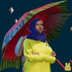 umbrella - melon