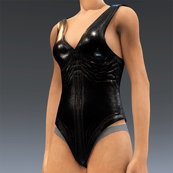Rubber Swimsuit Bleck