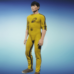Yellow track suit - after combat