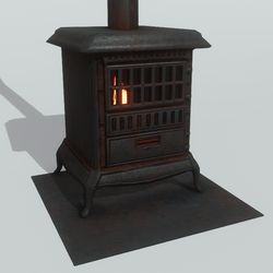 Pot Belly Stove with Extra Stove Pipes