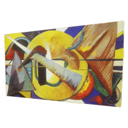 Abstract Painting of Marcel Duchamp - Painting, Art