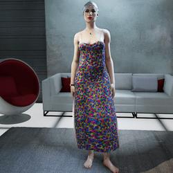 Female Spring-Summer Floral Dress(Little Transparency)