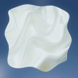 WHITE RUG SATIN FABRIC  SOFT BLENDED