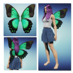 Animated Wings - Green Butterfly