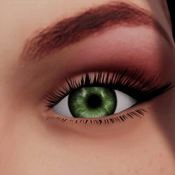 Angela Add-On Eyes - Moss Green
