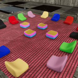 FULL SET - RUG&SOFAS/STOOLS MANY COLORS (Upgrade material/texture fixed)