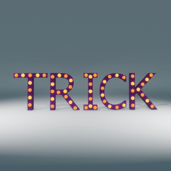 Trick Marquee Blinking Sign