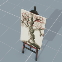 Artist Easel and Painting Frame