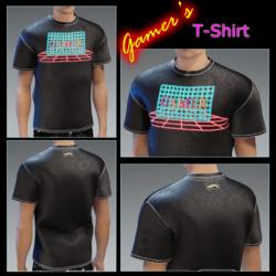 Male - Gamer's T-Shirt Though-Black