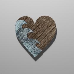 Wooden Heart Waves