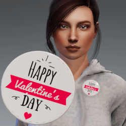 Free Gift - Flair - Button accessory - Happy Valentine's Day