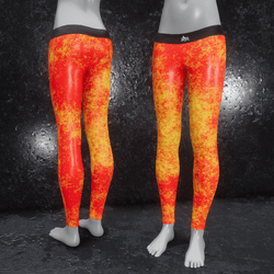 Leggings Fractal Leather orange