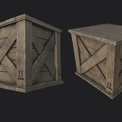 Wooden Crate 02